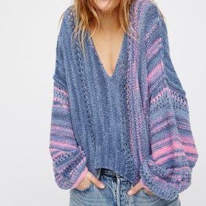 "FREE PEOPLE ""Amethyst"" Oversized SOFT Sweater L"